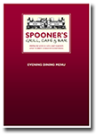 Spooner's Evening Menu